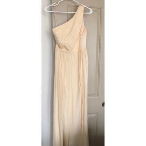 JCrew champagne bridesmaid dress